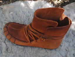 womens ugg moccasin boots womens moccasin wrap ankle boots leather by beniboots