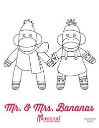 sock monkey coloring pages printable print size