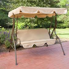 Outdoor Patio Swing by 2 Person Covered Patio Swing W Adjustable Tilt Canopy