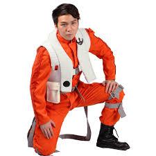 wars jumpsuit xcoser poe dameron costume jumpsuit for mens