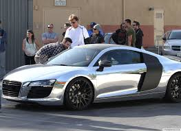 wrapped r8 scott disick sells chrome audi r8 doing donuts with bernie