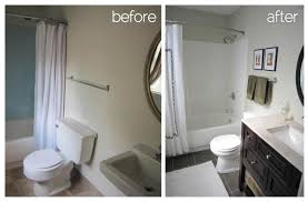 tiny bathroom design before and after remodeled small bathrooms smart elimination of