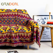 Sofa Blankets Throws Aliexpress Com Buy Vintage Bohimian Style Woven Soft Sofa