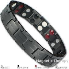 titanium magnetic bracelet black images Black bio 4 elements titanium magnetic bracelet jpg