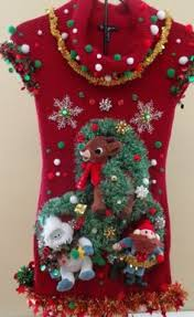 How To Decorate An Ugly Christmas Sweater - pink flamingo tropical light up tacky ugly christmas sweater dress
