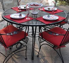 wrought iron outdoor dining table 48 round mesh wrought iron outdoor dining table by meadowcraft