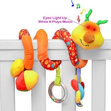 playboom giraffe baby crib toy with light u0026 music wraps around