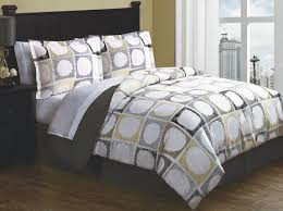 What Color Goes Best With Yellow by Yellow And White Bedding Wedding Theme Circle Grey Black Pattern