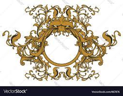 baroque floral ornament royalty free vector image