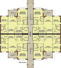 income property floor plans plan 83117dc 3 story 12 unit apartment building apartments