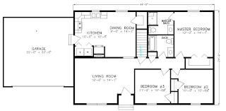 One Story Two Bedroom House Plans Single Story Home Floor Plans Descargas Mundiales Com
