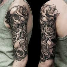 collection of 25 butterfly skull and roses half sleeve tattoos