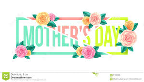 floral mothers day graphic design mothers day letter with flowers