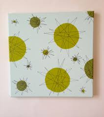 Modern Wall Art Mid Century Modern Wall Art Atomic 1950s Starburst Painting Blog