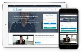 web bureau web development study belmore nurses bureau
