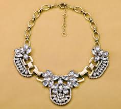 bib necklace rhinestone images Vintage statement clear rhinestone crystal bib necklace wholesale jpg