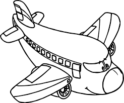 airplane cartoon coloring page wecoloringpage
