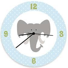 amazon com elephant wall clock elephant bedroom gray baby