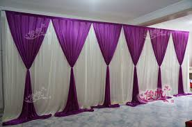 wedding backdrop online new fashion 10ft 20ft wedding stage curtain purple wedding