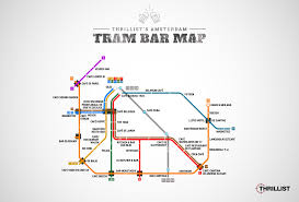 Brown Line Map Amsterdam U0027s First Official Tram Bar Map Thrillist