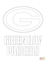 green bay packers logo coloring page free printable pages in nfl