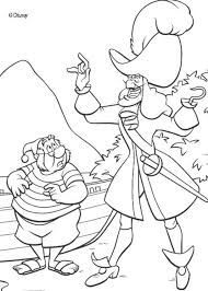 pirate ship coloring pages printable captain hook smee