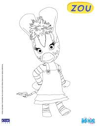 zou zebra coloring pages hellokids