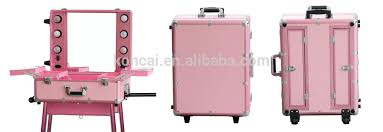 Professional Makeup Artist Lighting Professional Makeup Trolley Luggage Case Lighted Professinal