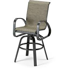 Outdoor Swivel Bar Stool Primera Aluminum Outdoor Swivel Bar Stool With Sling Seating By