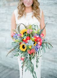 sunflower bouquets warmth and happiness 20 sunflower wedding bouquet ideas