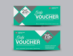 green gift voucher vector illustration green discount voucher template flyer design stock vector