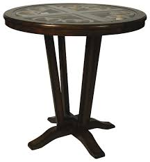 Kitchen Pub Tables And Chairs - pastel devon coast 40 inch high pub table traditional indoor