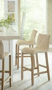 kitchen stools for island these woven counter stools are such a kitchen
