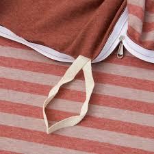 cotton pure auburn stripe knitted bundle bed set