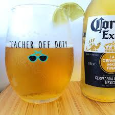 Wine Glass Teacher Off Duty
