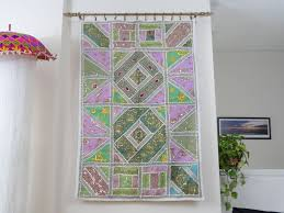 Decorating Elegant Interior Home Decor Ideas With Tapestry Wall - Indian wall hanging designs