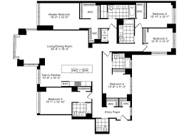 Luxury Apartment Floor Plan by Luxury 5 Bedrooms 4 5 Baths Corner Apt For Rent In Tribeca