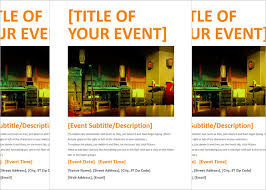 22 free download event flyer templates in microsoft word format