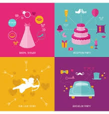 Wedding Photo Booth Props Wedding Party Set Photobooth Props Royalty Free Vector