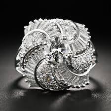 diamond cocktail rings fancy platinum and diamond cocktail ring
