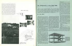 march 1947 the mathematics of the ideal villa palladio and le