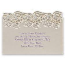 wedding reception wording sles vintage escape laser cut reception card invitations by