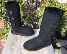 womens ugg denhali boots ugg australia denhali us 8 black boot blemish 2028 ebay