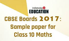 cbse board exams 2017 sle paper for class 10 maths sle papers