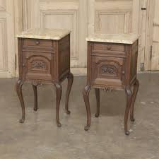 nightstand beautiful pair of french oak marble top bedside