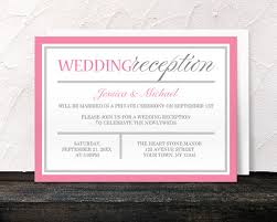 wedding reception only invitations pink reception only invitations modern pink and gray design