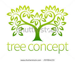 tree icon concept stylized tree leaves stock vector 222466516