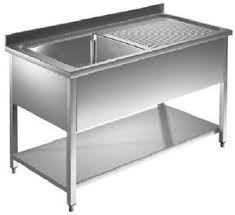 bac cuisine inox dim 140x60x85 plonge inox sur pieds pro cuisine restaurant 1 bac