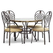 cheap modern dining room sets amazon com baxton studio hera modern 5 piece dining set brown