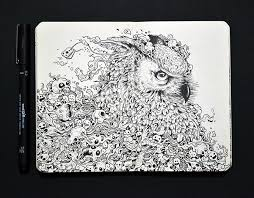 illustrator creates pop culture doodles in his moleskine notebook
